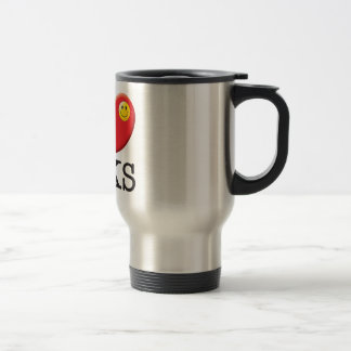 Yaks Love 15 Oz Stainless Steel Travel Mug