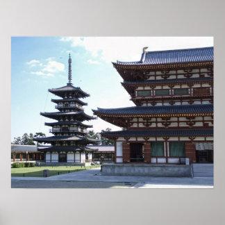 Yakushi-ji Temple 2 - Nara Japan Poster