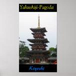 Yakushiji-Pagoda Póster