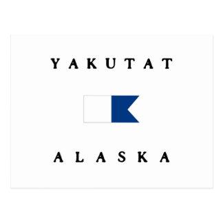 Yakutat Alaska Alpha Dive Flag Postcard