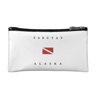Yakutat Alaska Scuba Dive Flag Cosmetic Bag