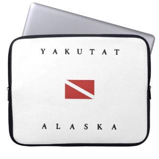 Yakutat Alaska Scuba Dive Flag Laptop Sleeve