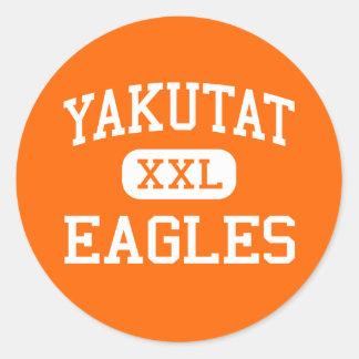 Yakutat - Eagles - High School - Yakutat Alaska Classic Round Sticker