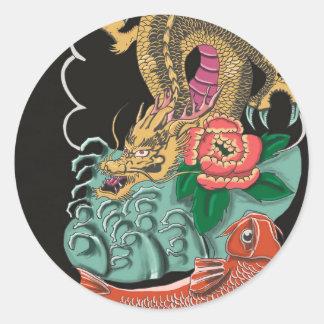 Yakuza Tattoo Classic Round Sticker