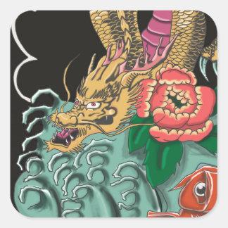 Yakuza Tattoo Square Sticker