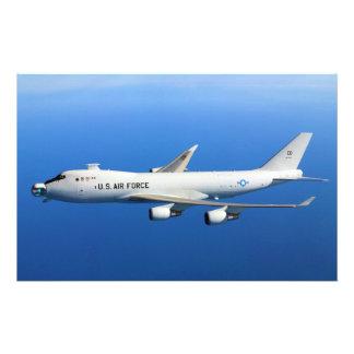 YAL-1A Airborne Laser Aircraft in flight Custom Stationery