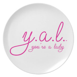 YAL - You're a Lady™ Dinner Plate