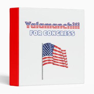 Yalamanchili for Congress Patriotic American Flag Binders