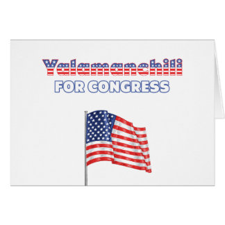 Yalamanchili for Congress Patriotic American Flag Greeting Card