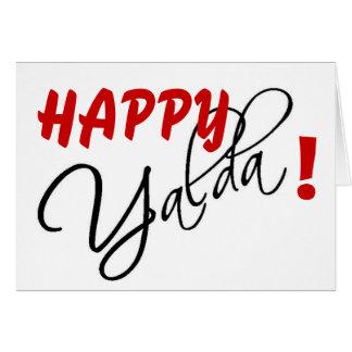 ¡Yalda feliz! Felicitacion