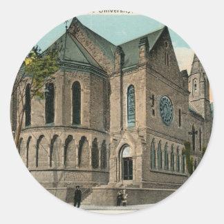 Yale Battell Chapel Classic Round Sticker