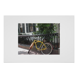 Yale: bike parked in front of Morry's Poster