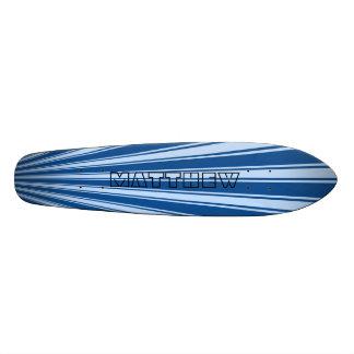 Yale Blue Color Stripe Funky Pattern Skate Board Decks