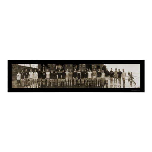 Yale Crew Team & Subs Huge Photo 1910 Posters