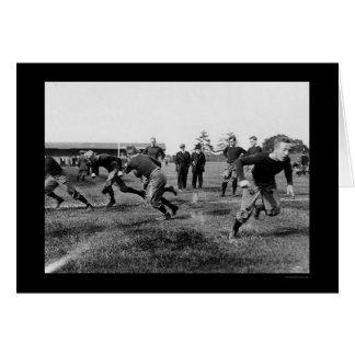 Yale Football Practice 1912 Card