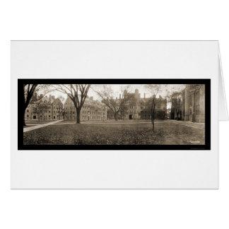 Yale, foto 1909 de New Haven CT Tarjeta De Felicitación