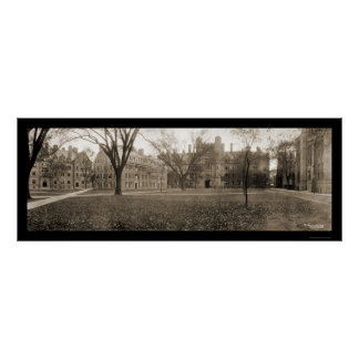 Yale, New Haven CT Photo 1909 Poster