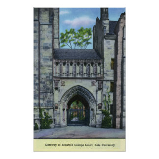 Yale University Gateway Poster