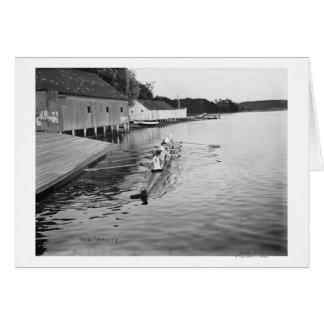 Yale University Rowing Crew Team Photograph Greeting Card