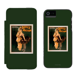 Yale's Everlasting Devil's Auction Play Wallet Case For iPhone SE/5/5s