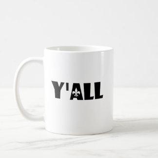 Y'all Fleur de Lis Cajun Louisiana Custom Mug