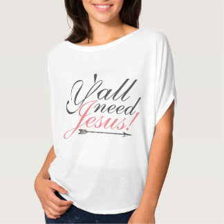 Y'all Need Jesus Slouchy Tee - Pink