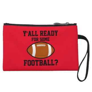 Y'all Ready for Some Football Wristlet