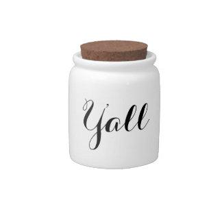 Y'all Typography Candy Jar