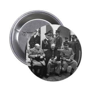 Yalta Conference Roosevelt Stalin Churchill 1945 Button