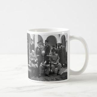 Yalta Conference Roosevelt Stalin Churchill 1945 Classic White Coffee Mug
