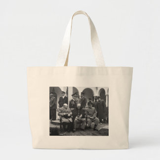 Yalta Conference Roosevelt Stalin Churchill 1945 Large Tote Bag