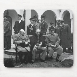 Yalta Conference Roosevelt Stalin Churchill 1945 Mouse Pad