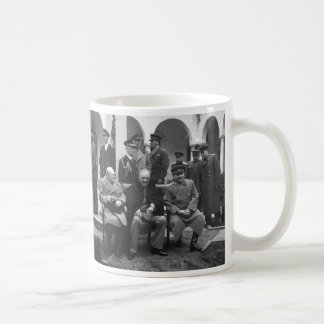 Yalta Conference Roosevelt Stalin Churchill 1945 Classic White Coffee Mug