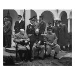 Yalta Conference Roosevelt Stalin Churchill 1945 Poster