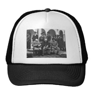 Yalta Conference Roosevelt Stalin Churchill 1945 Trucker Hat