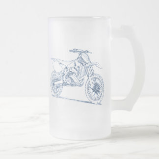 Yam YZ250 2010 16 Oz Frosted Glass Beer Mug