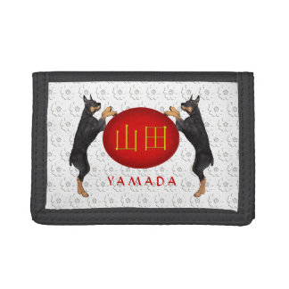 Yamada Monogram Dog Tri-fold Wallet