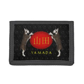 Yamada Monogram Dog Trifold Wallet