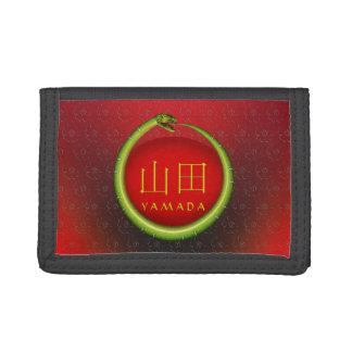 Yamada Monogram Snake Tri-fold Wallet