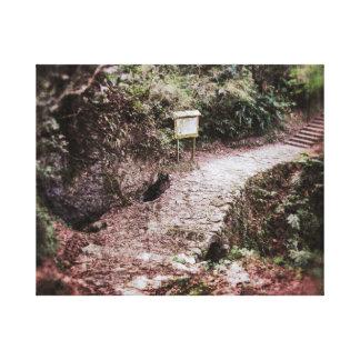 """Yamada Stone Bridge"" Canvas Print"