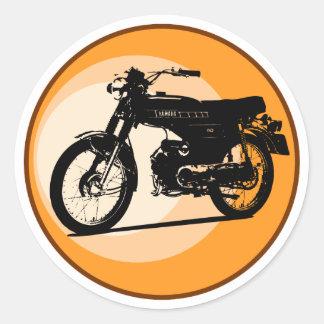 Yamaha FS1E 'FIZZY' Classic moped Classic Round Sticker