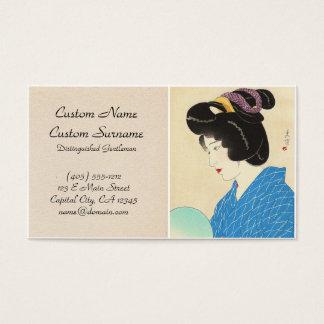 Yamakawa Shuho Dusk Tasogare japanese lady art Business Card