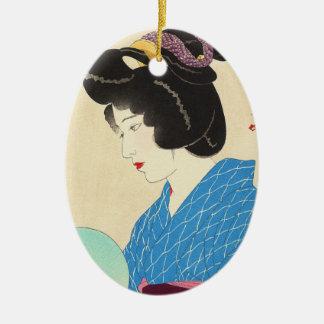 Yamakawa Shuho Dusk Tasogare japanese lady art Ceramic Ornament