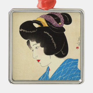 Yamakawa Shuho Dusk Tasogare japanese lady art Metal Ornament