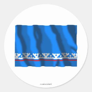 Yamalo-Nenets Autonomous Okrug Flag Classic Round Sticker