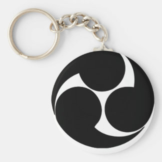 YAMAMOTO kamon Basic Round Button Keychain