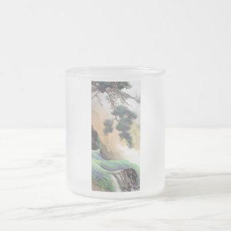 Yamamoto Shunkyo - Spring of Mountain Frosted Glass Coffee Mug