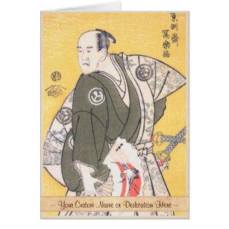 Yamashina Shirojuro in Role of Nagoya Sanzaemon Greeting Card