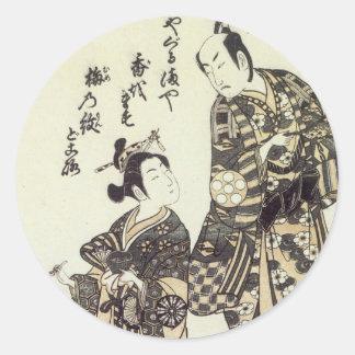 Yamashita & Nakaura Kiyohiro 1755 Art Prints Round Stickers