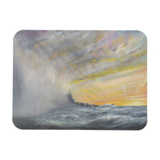 Yamato Emerges from Pacific Typhoon 1944 2010 Rectangular Photo Magnet